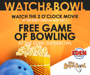 Watch a movie and play Bowling for free
