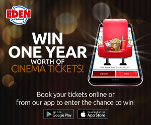 Win one year free cinema tickets